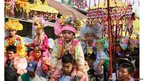Buddhist novices at Poy Sang Long Festival in Thailand