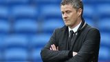 Ole Gunnar Solskjaer with eyes closed and arms folder as Cardiff lose to Crystal Palace
