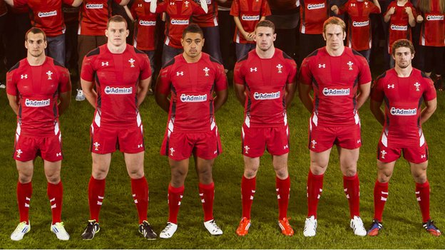 Players from the Welsh rugby team