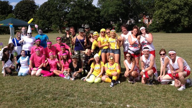 Admiral staff at a company sports day