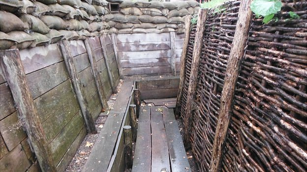 Replica of WW1 trench