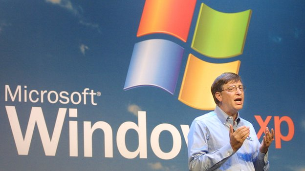 Bill Gates launching Windows XP