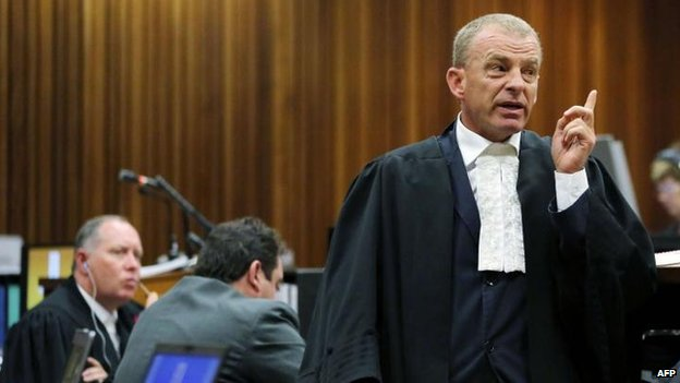 State prosecutor Gerrie Nel, 7 April