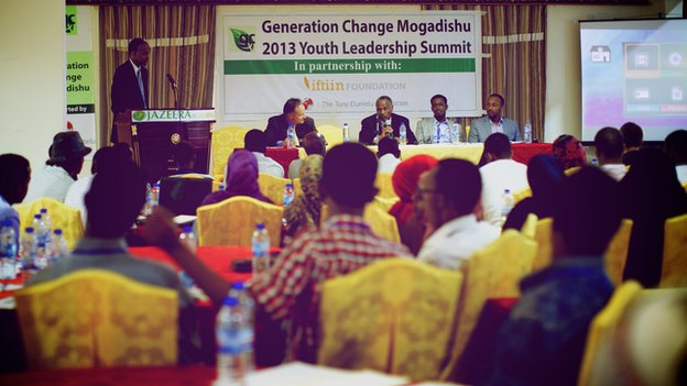 The youth enterprise summit held last year at the Jazeera Hotel in Mogadishu