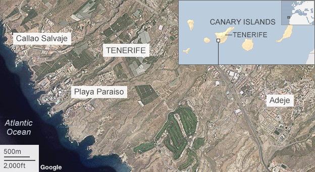 map of Tenerife
