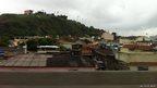 The shanty towns above Rio de Janeiro