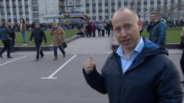 Steve Rosenberg in Donetsk