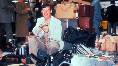 Michael Palin at London's Victoria Station in Around the World In 80 Days