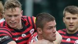 Tavis Knoyle is collared by Chris Ashton