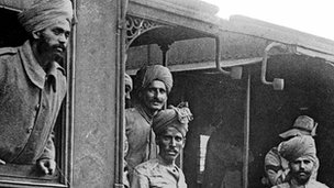 Indian soldiers during WW1