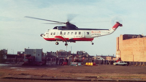 British Airway helicopter helps with Greyfriars construction
