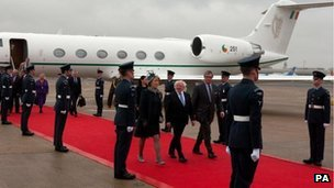 President Higgins arriving
