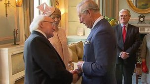 Michael D Higgins and Prince Charles