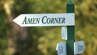 A sign to Amen Corner