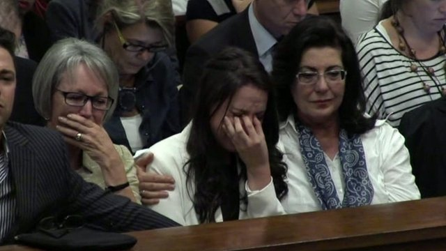 Family of Oscar Pistorius in tears