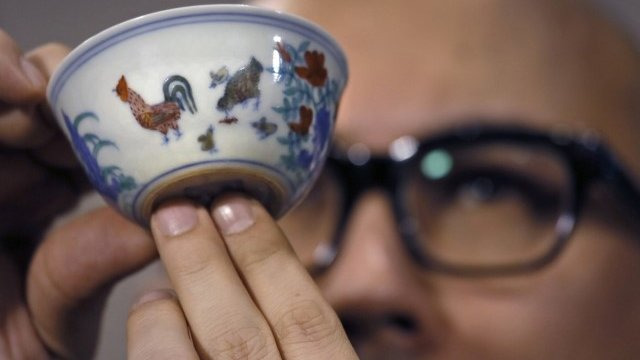 The Ming era cup