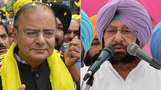 The BJP's Arun Jaitley is taking on the Congress' Amarinder Singh