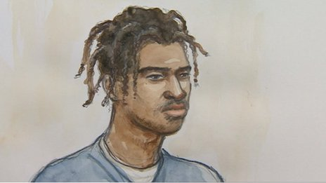 Court sketch of Abdul Hakim
