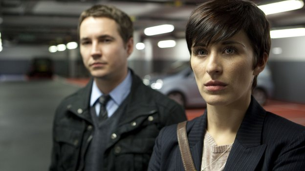 Martin Compston as Detective Sergeant Steve Arnott and Vicky McClure as Detective Constable Kate Fleming in Line of Duty