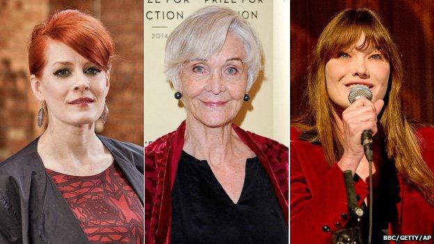 Ana Matronic, Sheila Hancock, Carla Bruni