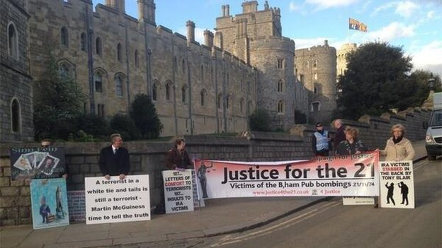 Protest outside Windsor Castle