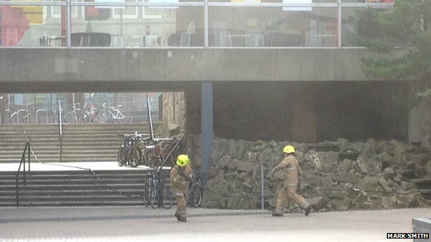 Edinburgh Napier fire