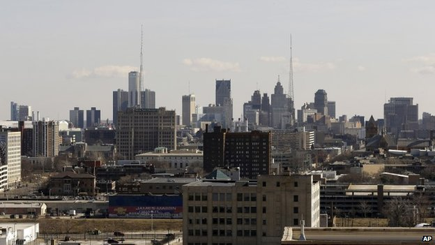 file photo of the skyline (cityscape) of the city of Detroit 13 March 2014
