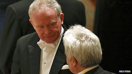 Martin McGuinness at the Windsor Castle banquet