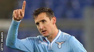 Miroslav Klose was born in Poland but has gone on to play 131 times for Germany, scoring 68 goals.