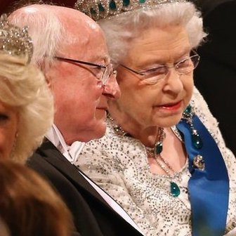 Michael D Higgins and the Queen