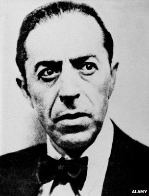 A black and white photo of Sidney Reilly
