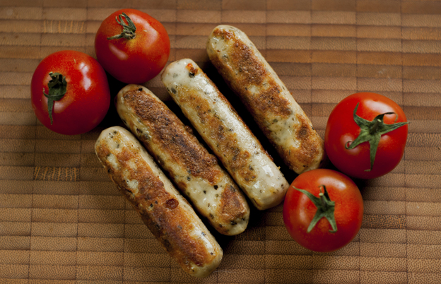 Vegetarian sausages