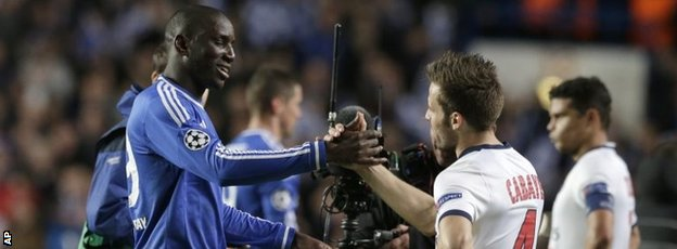 Demba Ba and Yohan Cabeye