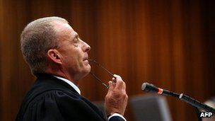 State prosecutor Gerrie Nel during Oscar Pistorius' murder trial in Pretoria - 9 April 2014