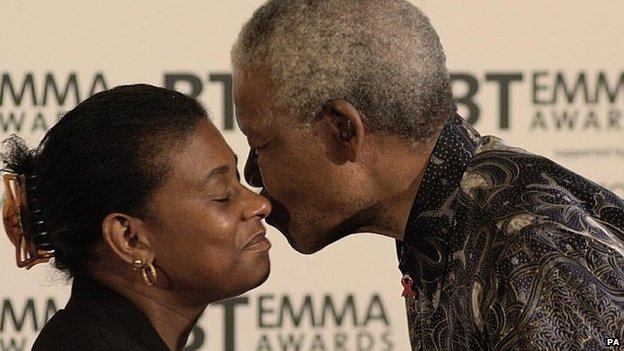 Doreen Lawrence and Nelson Mandela