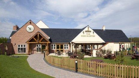 Pine Marten pub in Dunbar