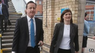 David Cameron with Nicky Morgan