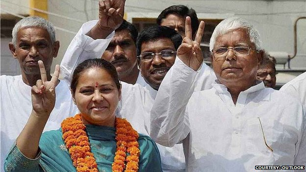 Laloo Yadav campaigns for his daughter Misa Bharti