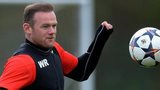 Wayne Rooney in Manchester United training