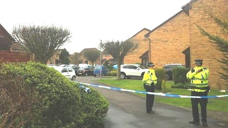 Police at Raeswood Drive