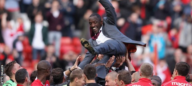 Chris Powell guided Charlton to the League One title before being sacked in March