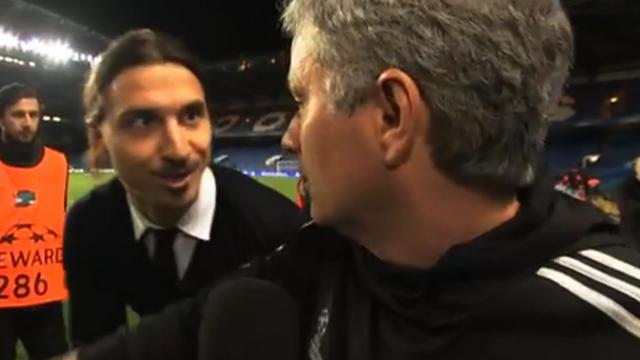 Zlatan Ibrahimovic surprises Jose Mourinho
