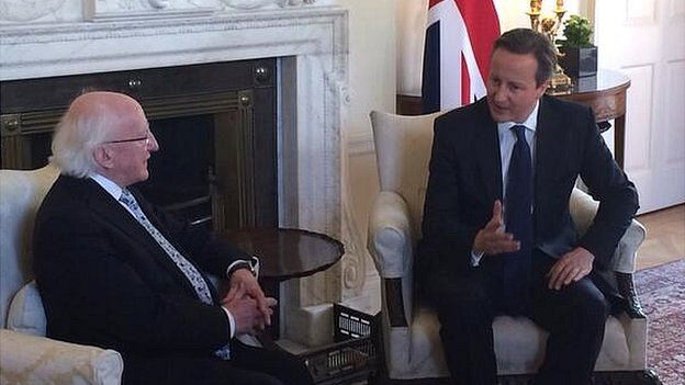 President Higgins with David Cameron
