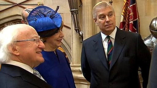President Higgins, Sabina Higgins and the Duke of York