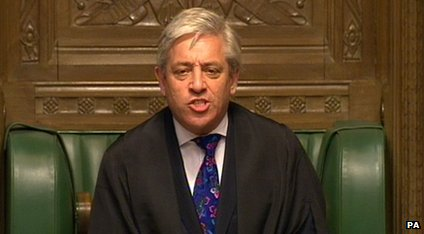 The Speaker John Bercow mentioned the Newsround viewers to encourage MPs to quieten down