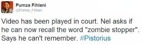 Tweet by the BBC's Pumza Fihlani