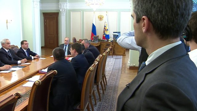 Daniel Sandford inside President Putin meeting