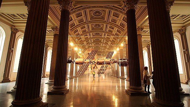 Image of one of Aleksandra Domanovic's installations at Glasgow's Gallery of Modern Art