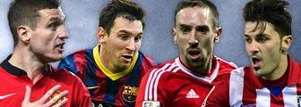 Nemanja Vidic, Lionel Messi, Franck Ribery & David Villa