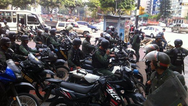 Police in San Cristobal